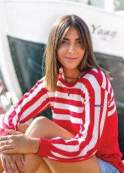 Biologic cotton sailor pullover
