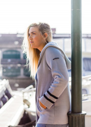 Biologic cotton knitted jacket