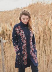 Long jacquard waistcoat