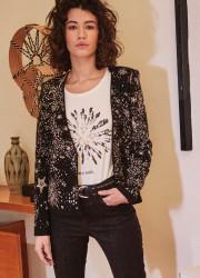 Shinny jacquard waistcoat