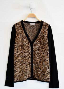 Leopard jacquard waistcoat