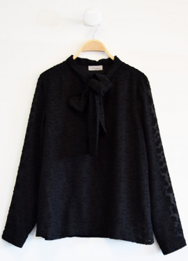 Black flowered blouse