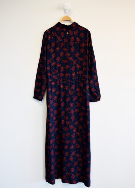 Robe longue coquelicots