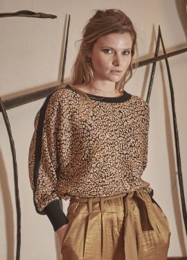 Pull jacquard léopard