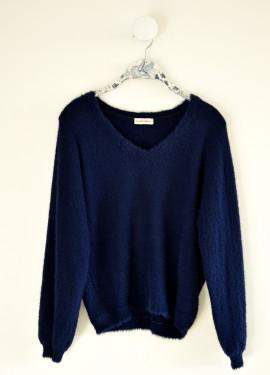 """Faux-fur"" pullover"