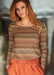 Missoni effect patterned top