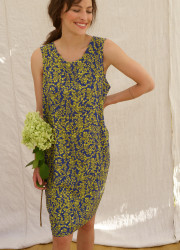 Short dress with bicolor pattern