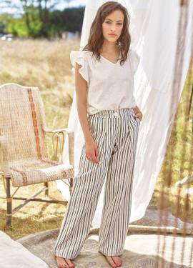Lurex Striped Pattern Pants