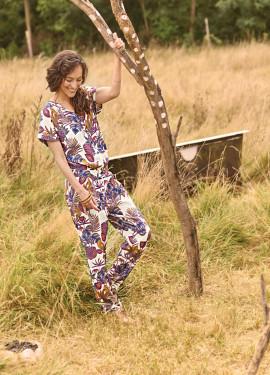 """Jungle"" Pattern Pantsuit"
