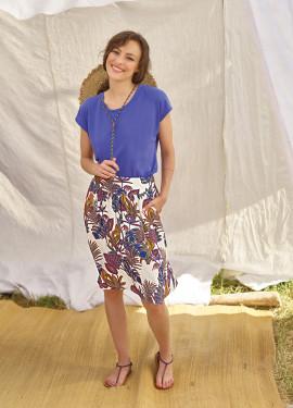 "Short ""Jungle"" Pattern Skirt"