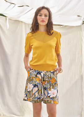 Savane Pattern Shorts