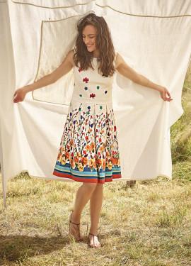 """""""Watercolor"""" Pattern Dress"""