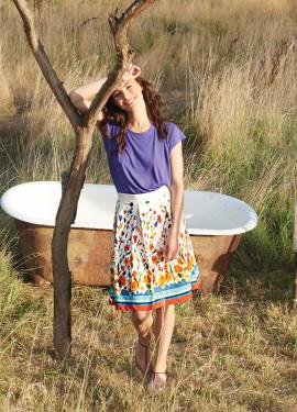 """Watercolor"" Pattern Skirt"