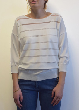 Technical knit sweater