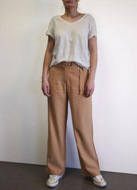 Wide plain pants