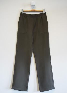 Plain elastic pants