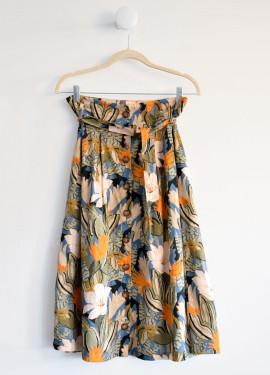 Half-length skirt with...