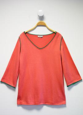 Pull bicolore long