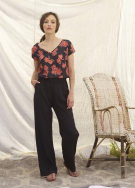 Combi-pantalon à motif fleur