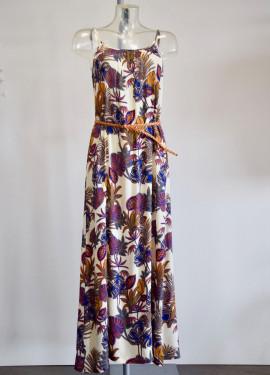"""""""Jungle"""" Pattern Long Dress"""