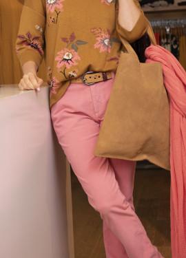 Pantalon chino en velour...