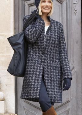 Long manteau à motif precieux