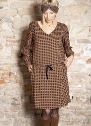 gommette Print Dress