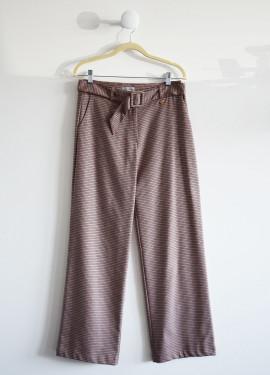 Pantalon large pied de poule