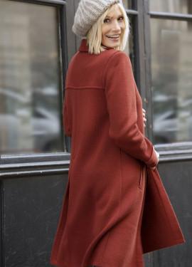 Manteau en maille milano